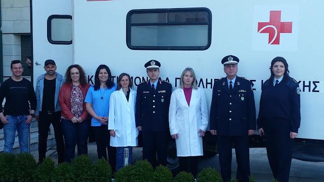 Με μεγάλη επιτυχία πραγματοποιήθηκε η εθελοντική αιμοδοσία που οργανώθηκε από την Τοπική Διοίκηση Κοζάνης της Διεθνούς Ένωσης Αστυνομικών (Φωτογραφίες)