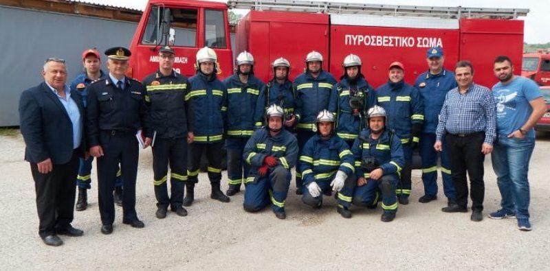 Άσκηση Πυροσβεστικού Κλιμακίου Νεάπολης Βοΐου στο Εργοστάσιο της ΠΑΛΞΥΛ (Βίντεο).