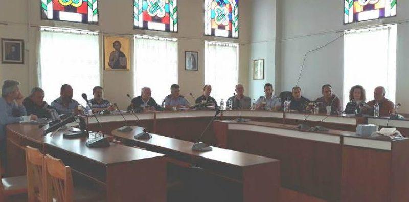 Σύσκεψη για την πολιτική προστασία στο Δήμο Βοΐου.